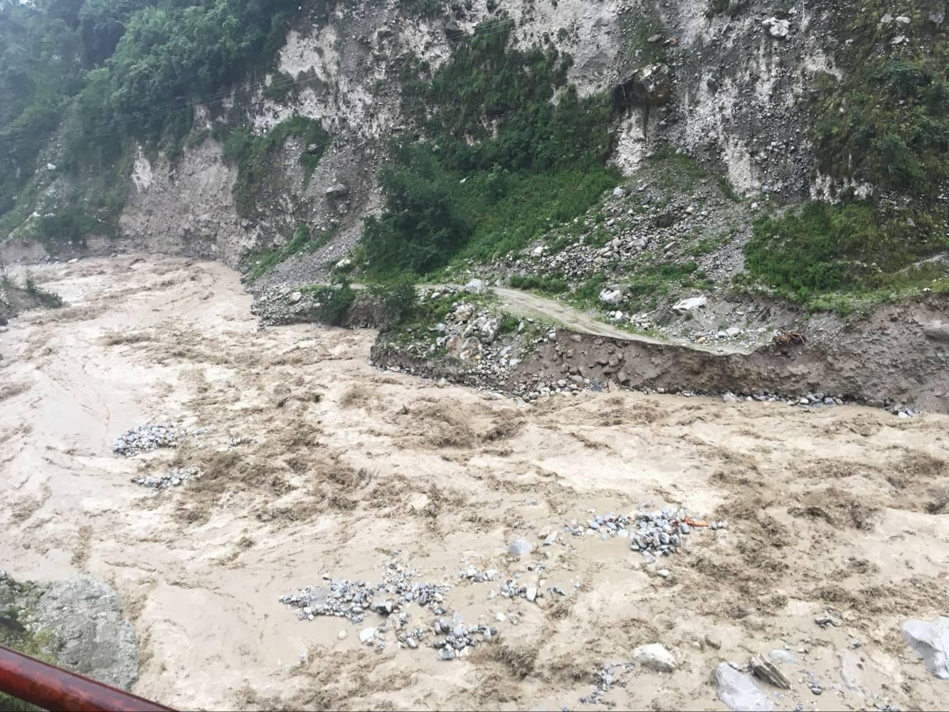 磨西电站流域洪水